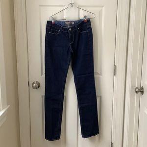EUC PAIGE Dark Wash Straight Jeans Size 28